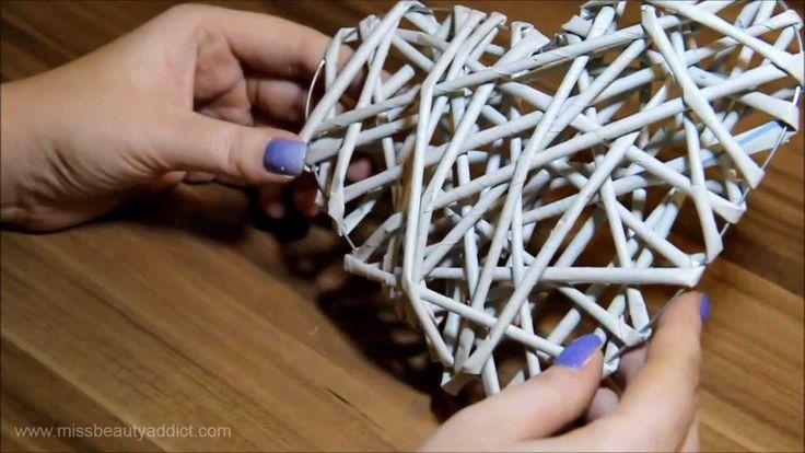 come fare il cuore con le cannucce di carta
