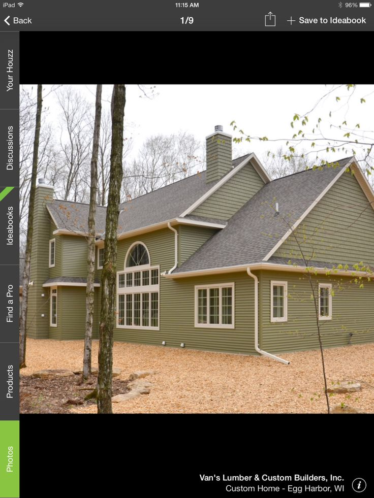 Spruce Green Siding Exterior Design And Colors