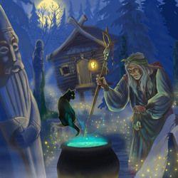 Баба Яга Good Witch Baba Yaga by Russian illustrator Feliday
