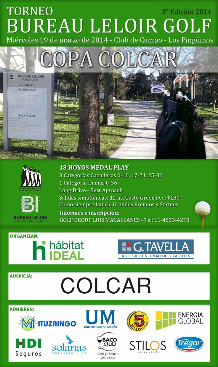 Torneo Bureau Leloir de Golf - Copa Colcar;  Stilos Magazine Sponsor Oficial del Torneo Bureau Leloir Golf, en su 3ra edición. By Stilos Magazine.