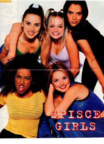 CLIPPING -- SPICE GIRLS , -- MINI POSTER