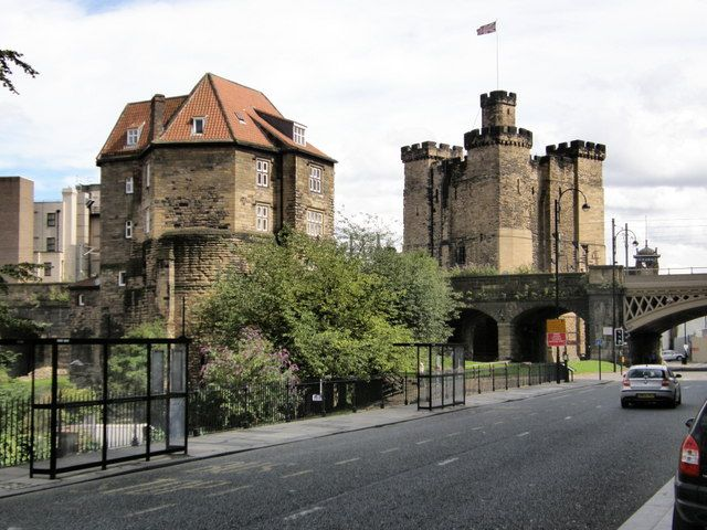 Castle and Black Gate, Newcastle upon Tyne, Tyne and Wear, North East England, UK