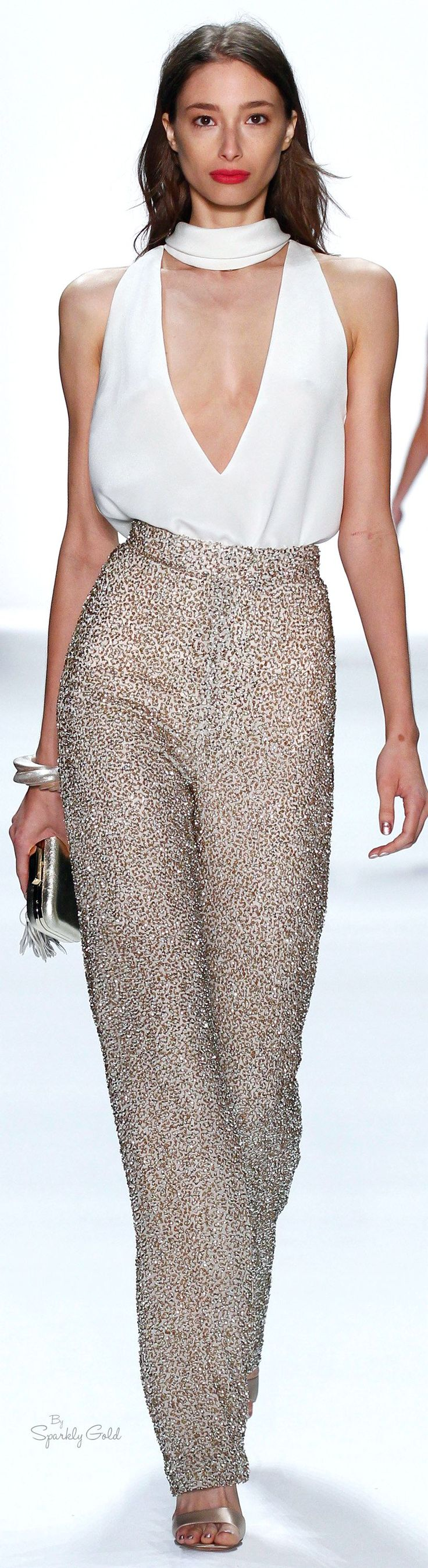 "Badgley Mischka Spring 2016 ""And the LORD said to Moses, ""Go to the people and consecrate them today and tomorrow. Have them wash their clothes."" Exodus 19:10"