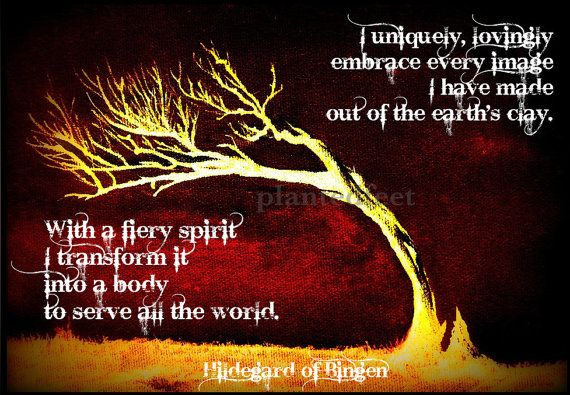 Photo art greeting card - Hildegard of Bingen quote. Lots more at etsy shop.