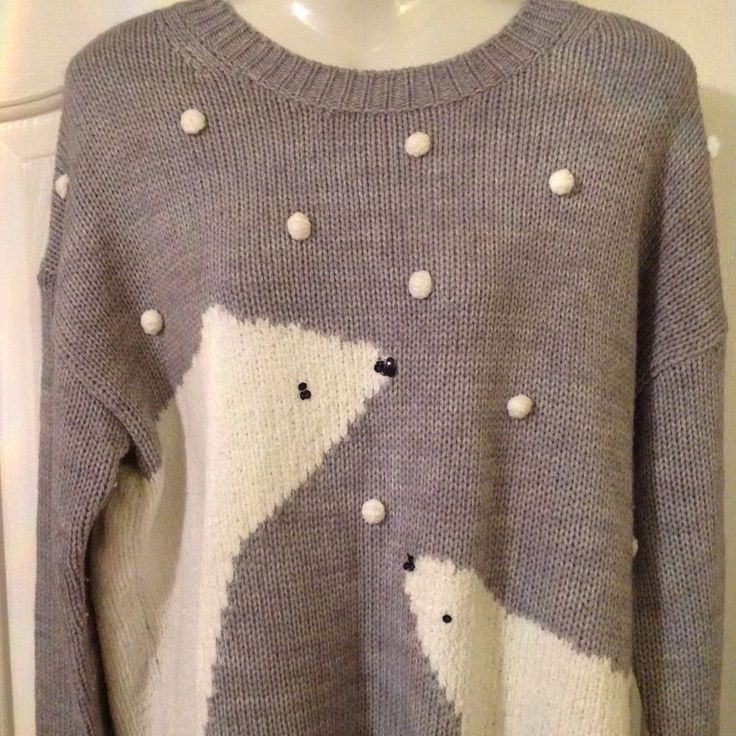 NEXT LADIES CHRISTMAS JUMPER WITH WHITE POLAR BEARS SIZE 14 TALL in Clothes, Shoes & Accessories, Women's Clothing, Jumpers & Cardigans | eBay