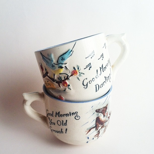1950s teacups by Jenny Mitchell