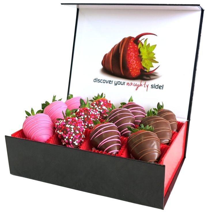 The Sweetest Thing Gift Box - A dozen fresh strawberries dipped in fine belgian chocolate and pink belgian chocolate.