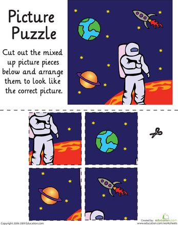 Worksheets: Outer Space Picture Puzzle