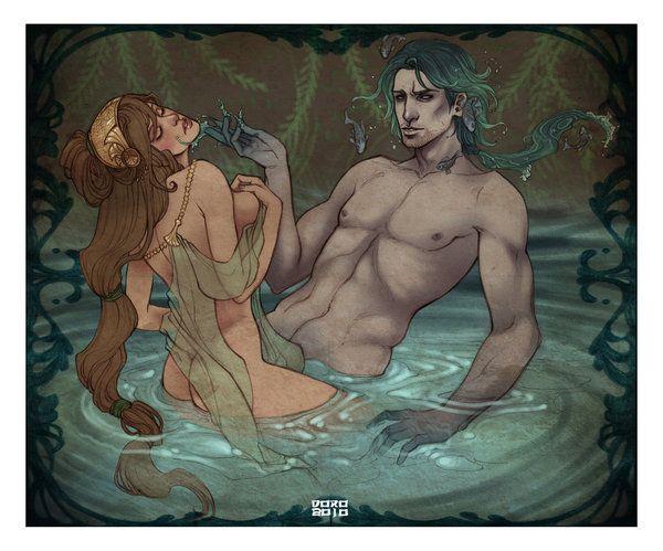 Tyro and Poseidon by DoroxDoro (print image)