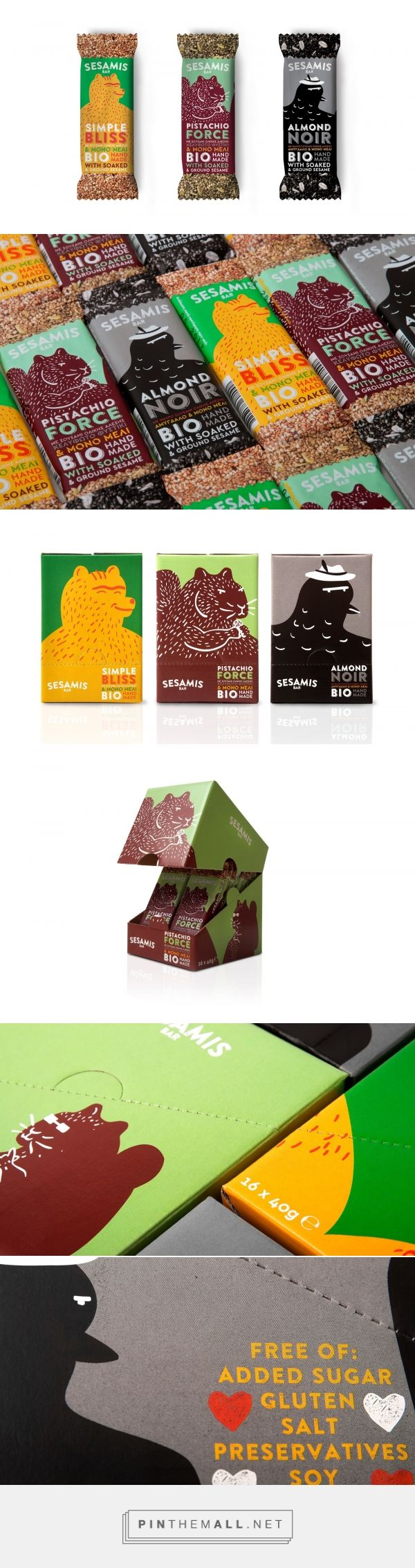 Sesamis Bars packaging design by k2design - http://www.packagingoftheworld.com/2017/04/sesamis-bars.html