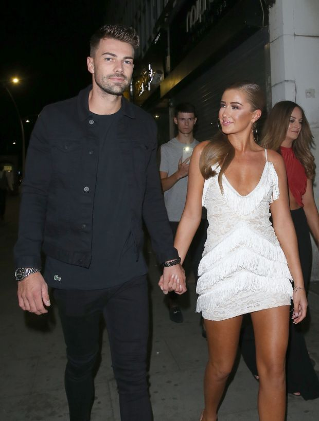 6a276db118 Love Island couple Georgia Steel and Sam Bird are seen at Faces Night Club  in Essex