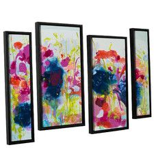 'July Heat' by Claire Desjardins 4 Piece Framed Painting Print Set