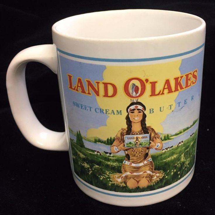 Land O' Lakes Butter Advertising Coffee Mug Design Both Sides by Kilncraft UK #Kilncraft