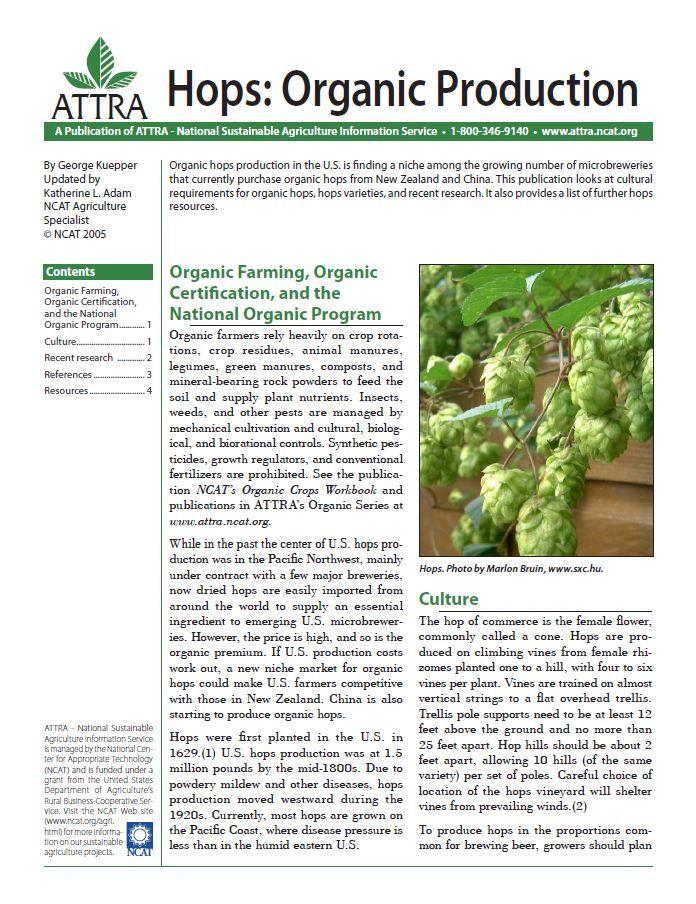 Hops: Organic Production | ATTRA