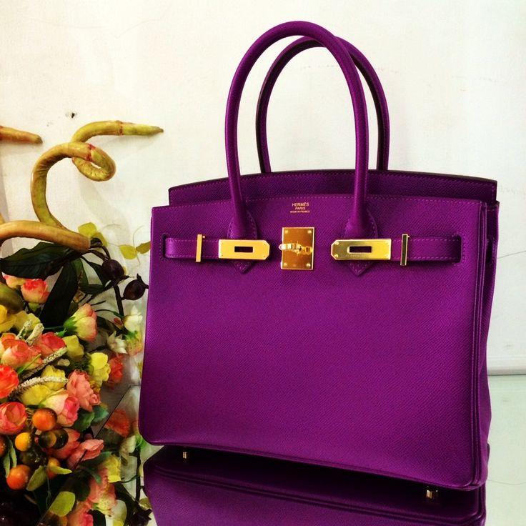 HERMES BIRKIN 30 EPSOM ANEMONE GOLD HARDWARE | Handbags ...