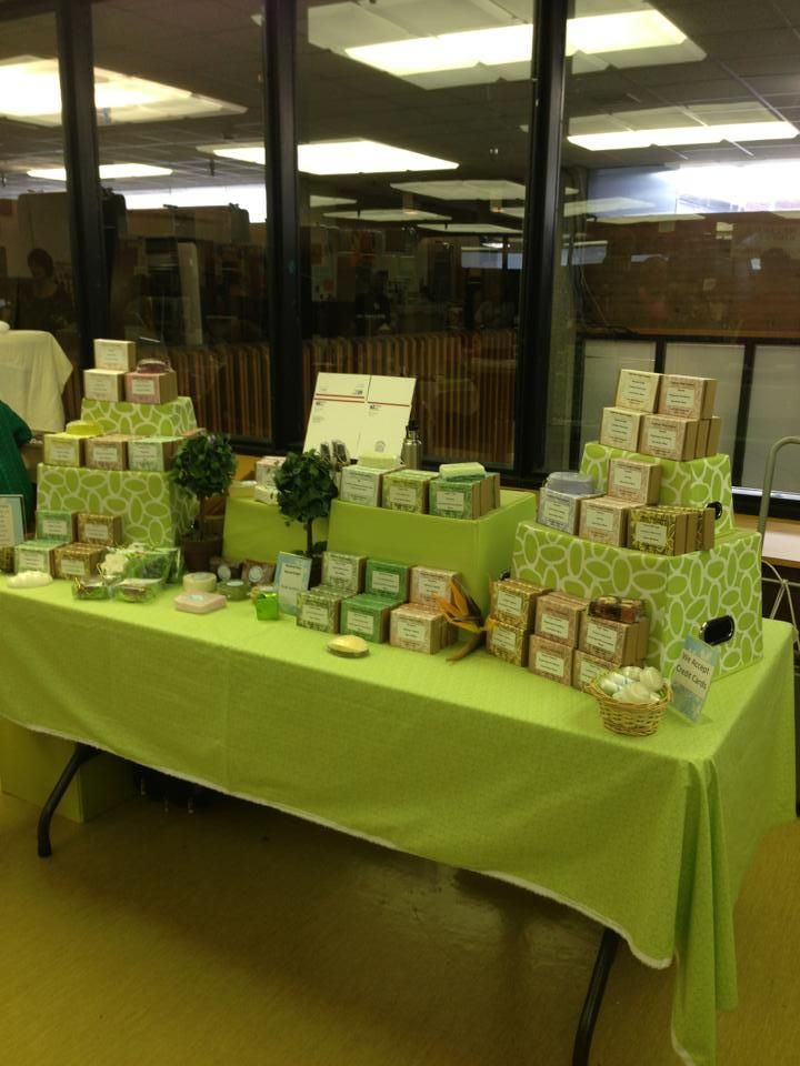 This is my soap display from a craft show that I did - Cupertino Soap Company