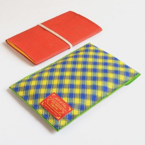 Buy Blue, Yellow & Red Banaras Pouch Notebook at Tadpole Store