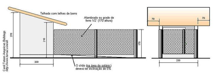 Canil em Alvenaria Simples - Com e Sem Solário