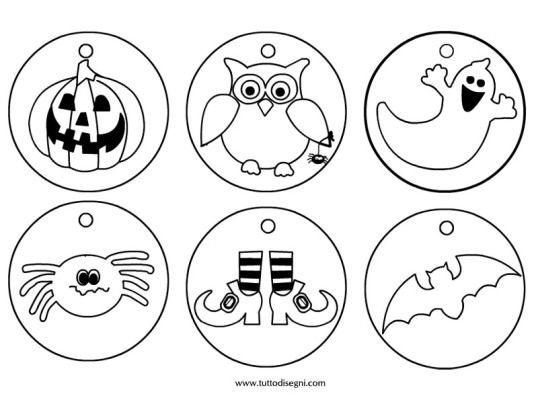 Medaglie Halloween da colorare