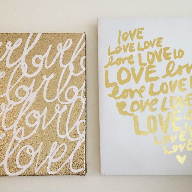 Gold canvas prints, for the win. | Make Your Home Amazing
