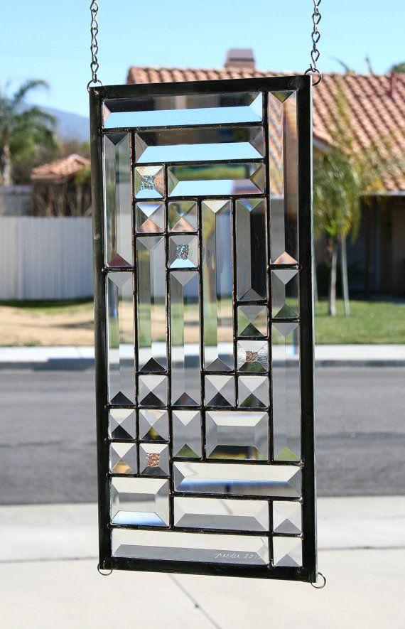 Las 25 mejores ideas sobre vidrio biselado en pinterest y - Puertas con cristales de colores ...