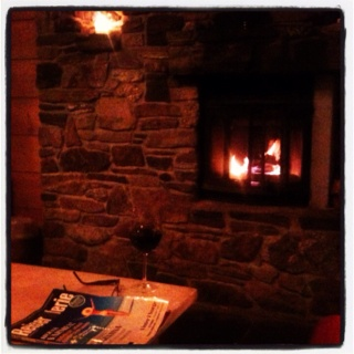 Fireplace, red wine...23.12.2011 :)))
