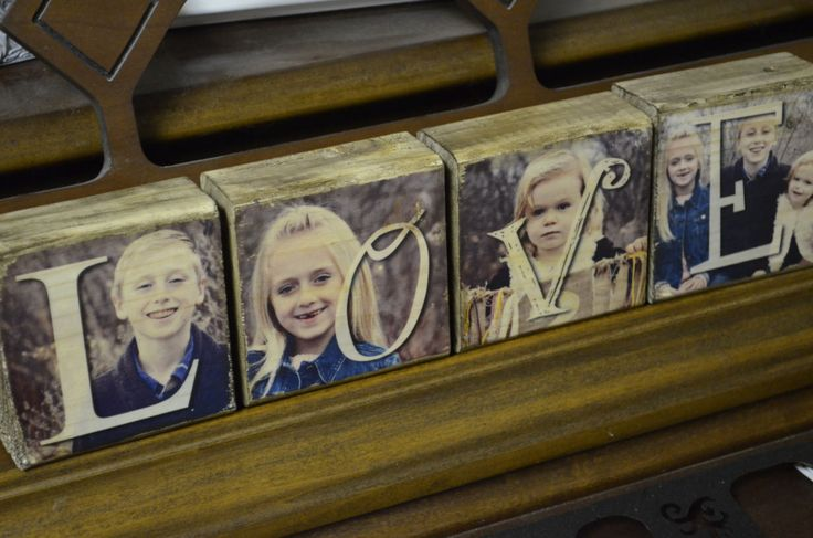 4 Photo Blocks Image transferred to wood not glued by WhimsyBits