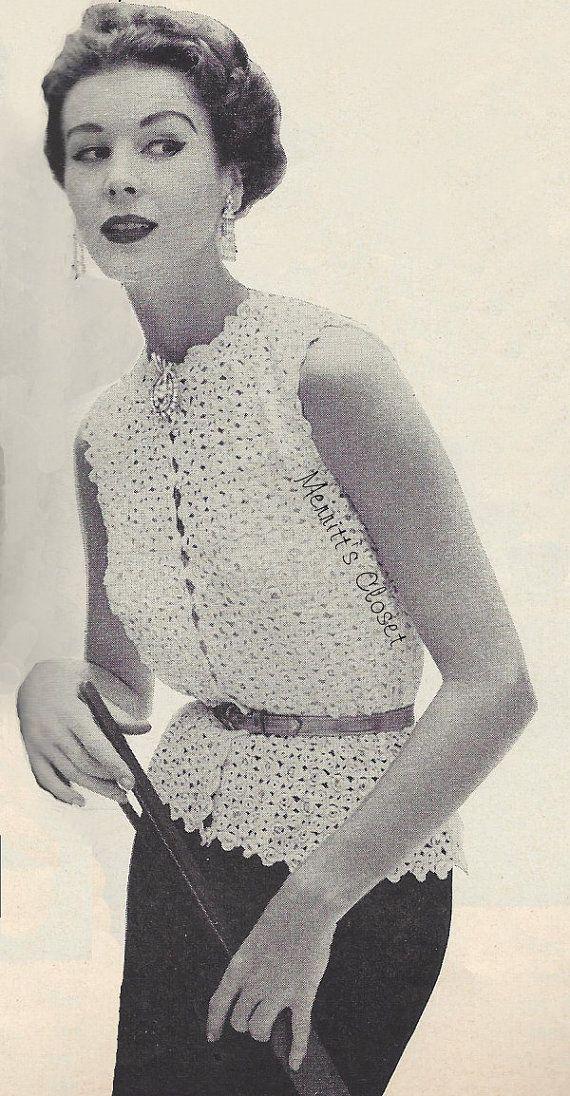 Free Vintage Crochet Blouse Pattern Dancox For
