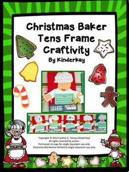 In this packet, students color cookies in a tens frame. On a blank tens frame, they decide how many more cookies to add to the baker's cookie sheet. They write the total amount on a recording sheet.  Step by step directions for how to create the baker are given.