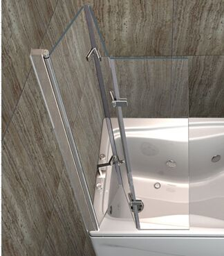 3 glass panels hinged bifold bathtub shower door buy folding bathtub shower doorfolding bathtub shower doorbathtub shower doors product on - Bathtub Shower Doors