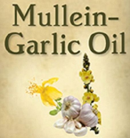MULLEIN & GARLIC OIL Gentle Cleansing Ear Drop Formula with Rosemary Leaf & Vitamin E