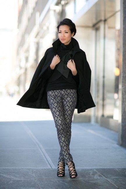 Top :: Zara coat (old) (similar here), Alice + Olivia bow jacket, Splendid top Bottom :: thanks to DL1961! Bag :: Zara Shoes :: Schutz Accessories :: Gorjana ring