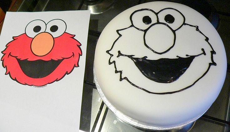 How To Make A D Elmo Cake