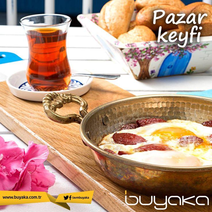 Pazarın keyfi Buyaka'da nefis bir kahvaltıyla çıkar! Mutlu pazarlar…  :) #BuyakaBiBaşka #HaftaSonu #Kahvaltı #Keyif #Mutluluk