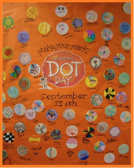 A Full Classroom: Dot Day. Students do some creative writing w/o using letters i or j.