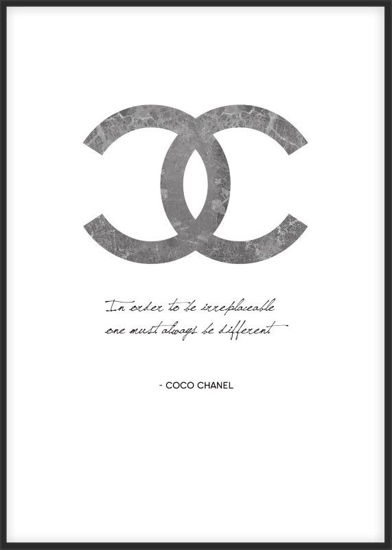 Fashion poster with a Coco Chanel quote. You find it at www.desenio.se.