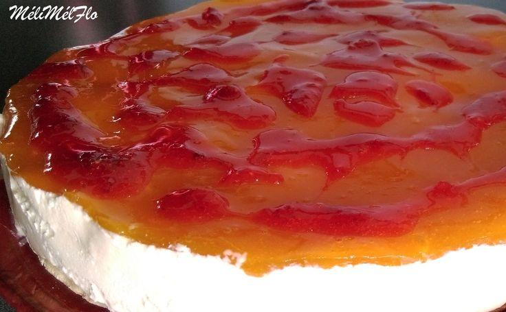 Cheesecake à l'abricot, cercle de 24 cm