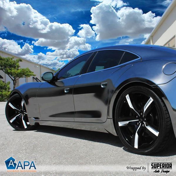 Total wrapping with Steel Chrome #chrome #carwrapping #selfadhesive #APAfilms