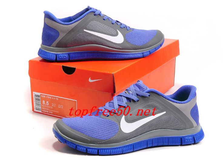 832280 Cool Grey White Violet Force Nike Free 4.0 V3 Women's Running Shoes