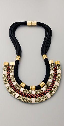 beaded statement necklace - boho