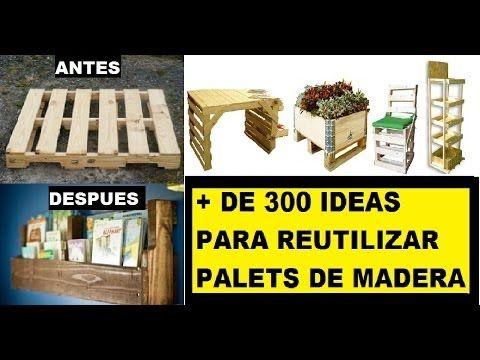 + 300 formas de reutilização de paletes; como painéis, pisos de madeira,...