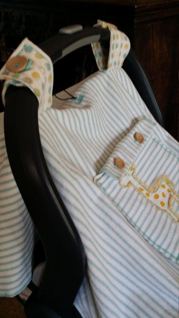 Car Seat CanopyHandmade Car Seat CoverCustom by greenbeans4baby