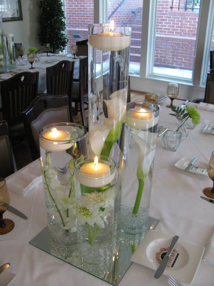 Beautiful - great idea to try! Flowers under water with floating candles.