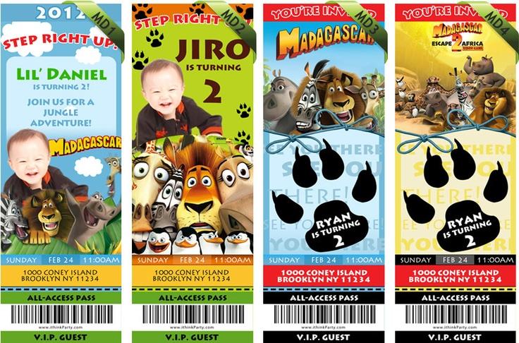 Madagascar Birthday Invitations. $9.99, via Etsy.