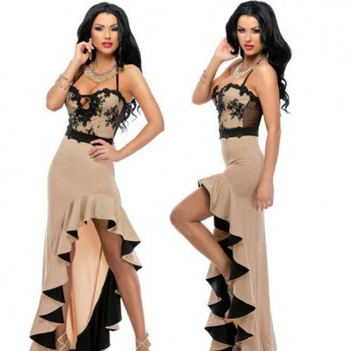 Asymetric Ruffle Hem Salsa Dance Dress