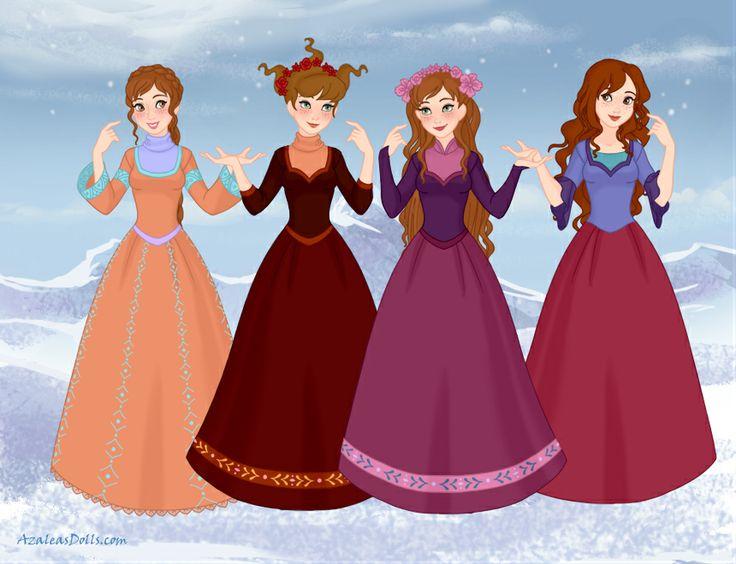 Fairy Oak: Flox Pollimon, Pervinca/ Lavender Periwinkle, Vanilia/ Vanilla Periwinkle and Shirley Poppy. Made it by Snow Queen scene maker on www.azaleasdolls.com