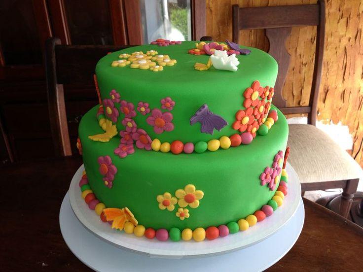 Torta de flores con mariposas!!   Tortas decoradas   Pinterest