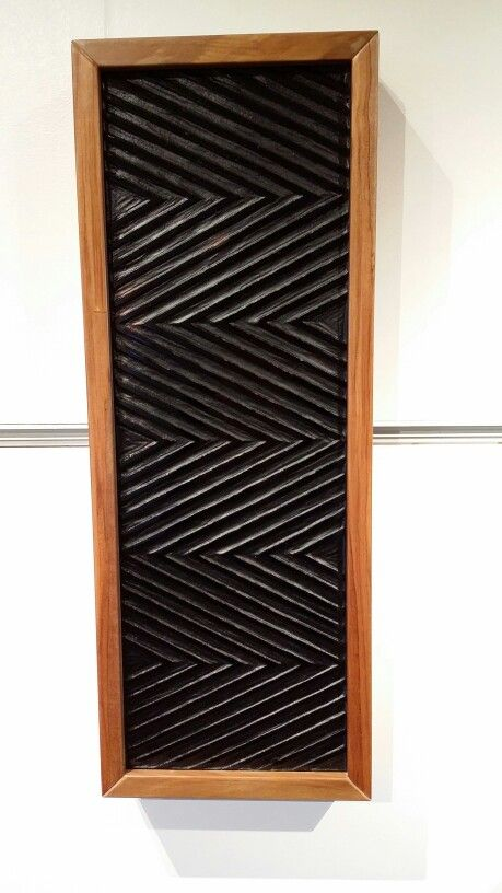 Black Panel - cast glass, recycled native rimu timber. By artist Hamish Mio