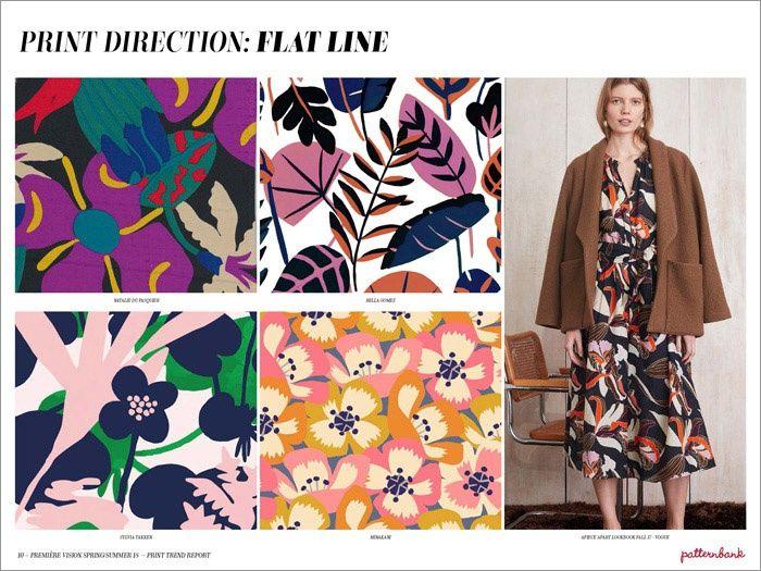 Première Vision Spring/Summer 2018 Print & Pattern Trend Report | Patternbank - Flat Line