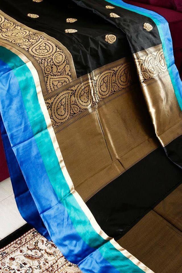 black saree